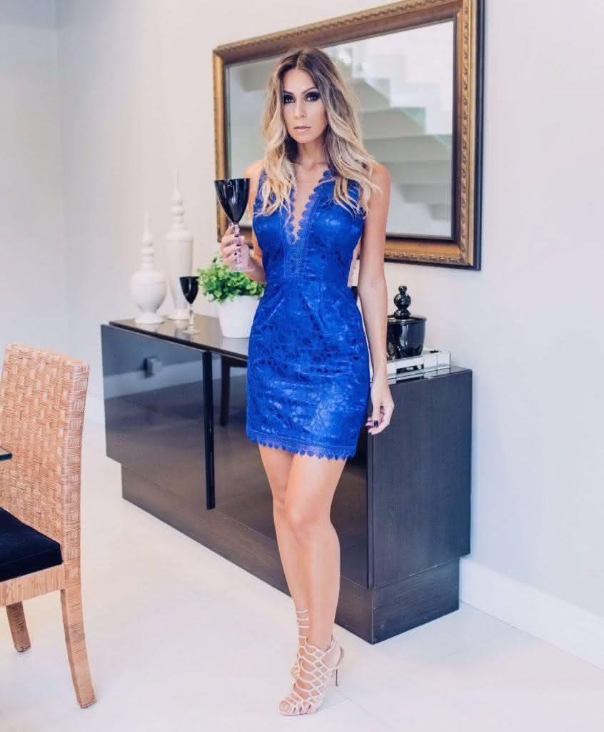 vestido de renda para festa