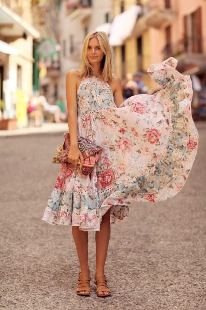 vestido, vestido floral, vestido rodado, vestido midi, vestido midi floral, modelos de vestidos, vestidos da moda, comprar vestidos online, vestidos lindos, vestidos estampados, modelos de vestido,Roupas Femin