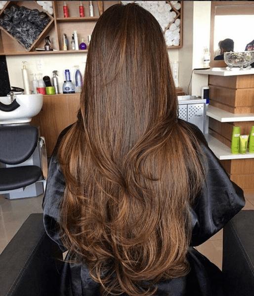 cabelo longo repicado ondulado