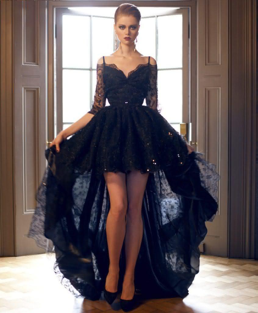 Vintage Lace Gothic Plus Size Evening Dress With Cloak A: VESTIDOS PARA FORMATURA 2018: Modelos Diferentes