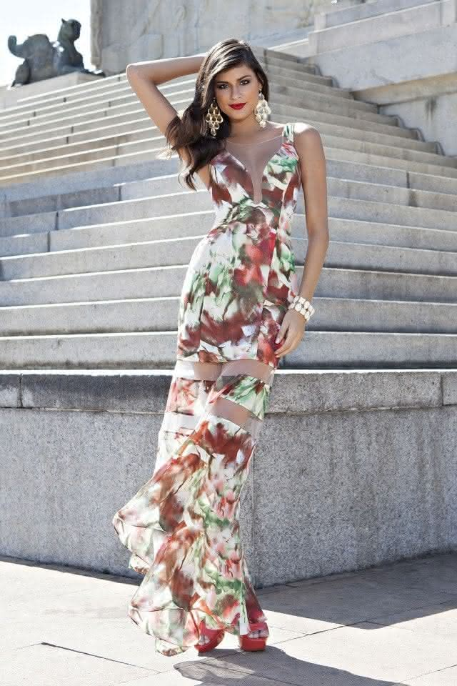 Resultado de imagem para vestido longo 2018