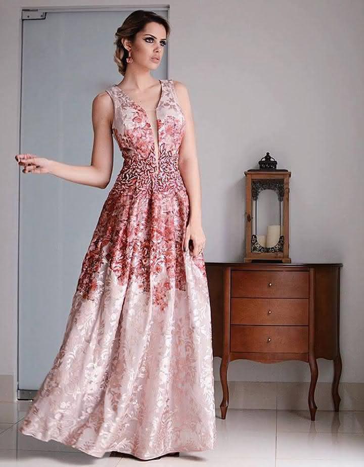 Vestido festa casamento longo 2018