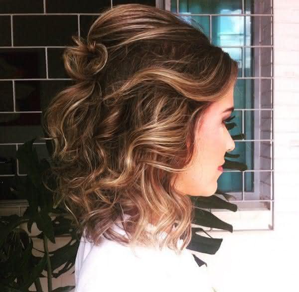 penteados para formatura curtos