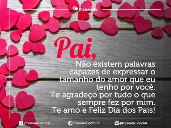 Lindas Imagens E Frases Para O Dia Dos Pais: Frases De Feliz Dia Amor