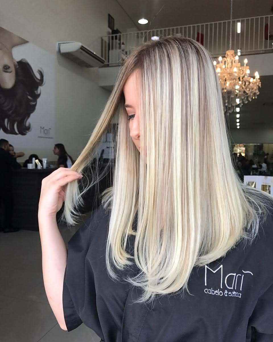 cabelos loiros 2018 perolado