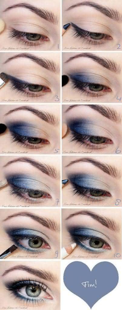 Maquiagem para vestido azul passo a passo