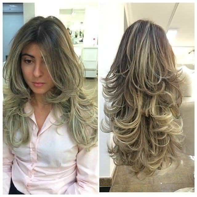 Cortes de cabelo em camadas