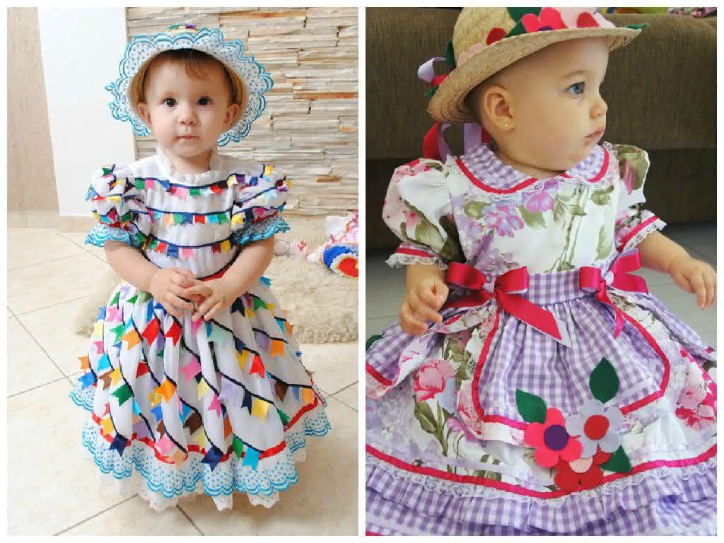 Vestido De Festa Junina 2019 Modelo Infantil E Adultos Tendências