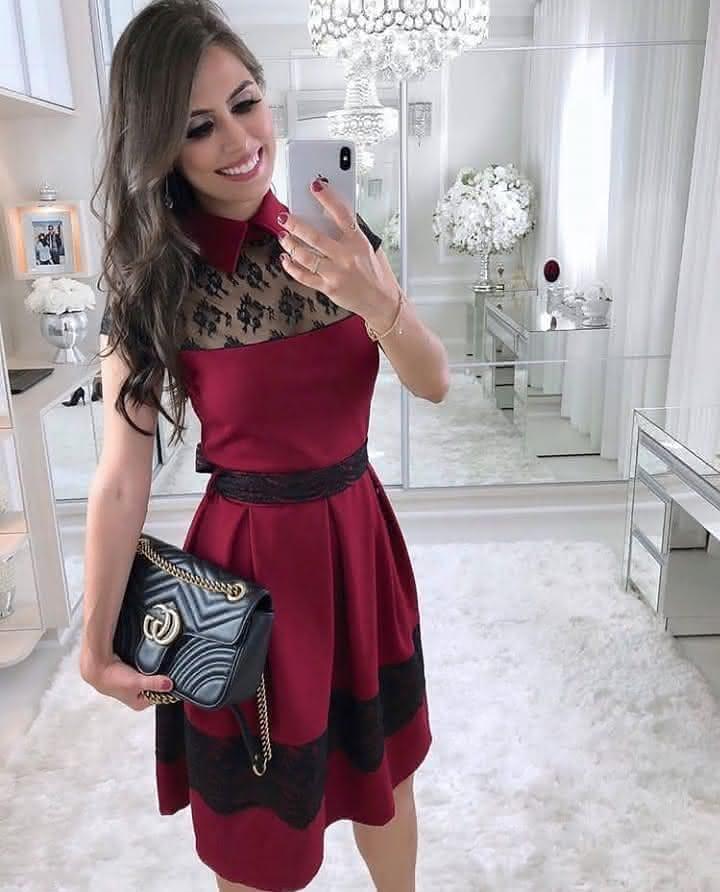28b387daa A maioria das mulheres evangélicas dispensam os vestidos de festa curto  2019, a preferencia é maior para os vestidos evangélicos com um comprimento  maior, ...