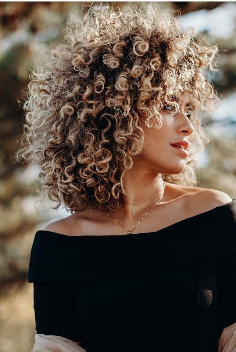 Natural Curly Hair Bun