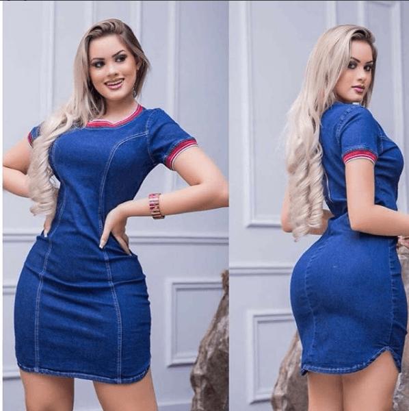 Vestido jeans ta na moda 2019