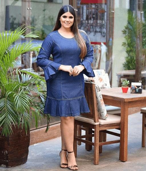 Vestido denim 2019