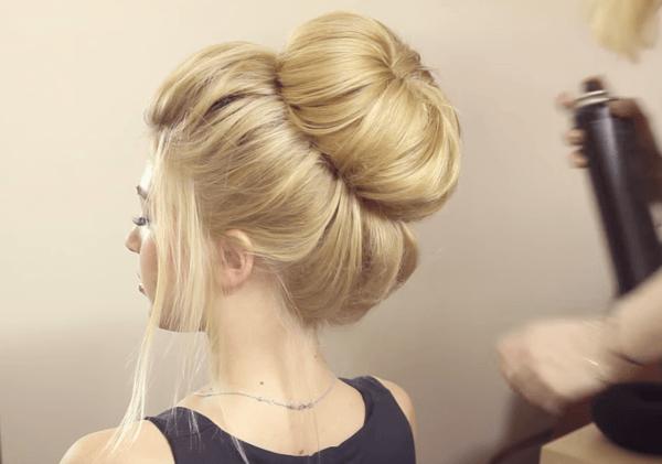 penteados com coque grande