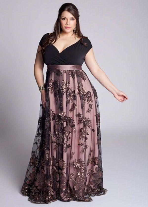 5ad5add6a Os vestidos de gala 2019 plus size são super confortáveis, deixaram seu  corpo ainda mais lindo e claro, sem perder o conforto. Vem conferir!