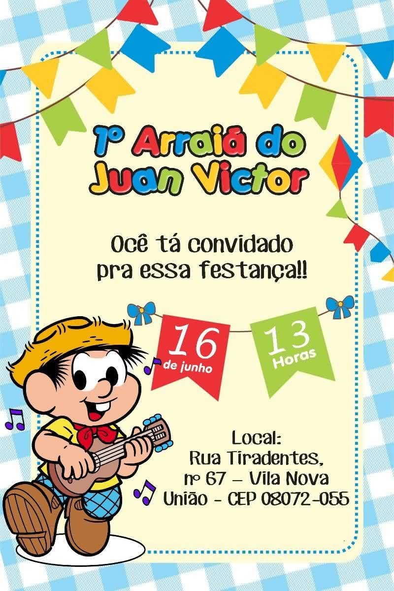 CONVITE DE FESTA JUNINA 2020 → Lindas Idéias, Modelos