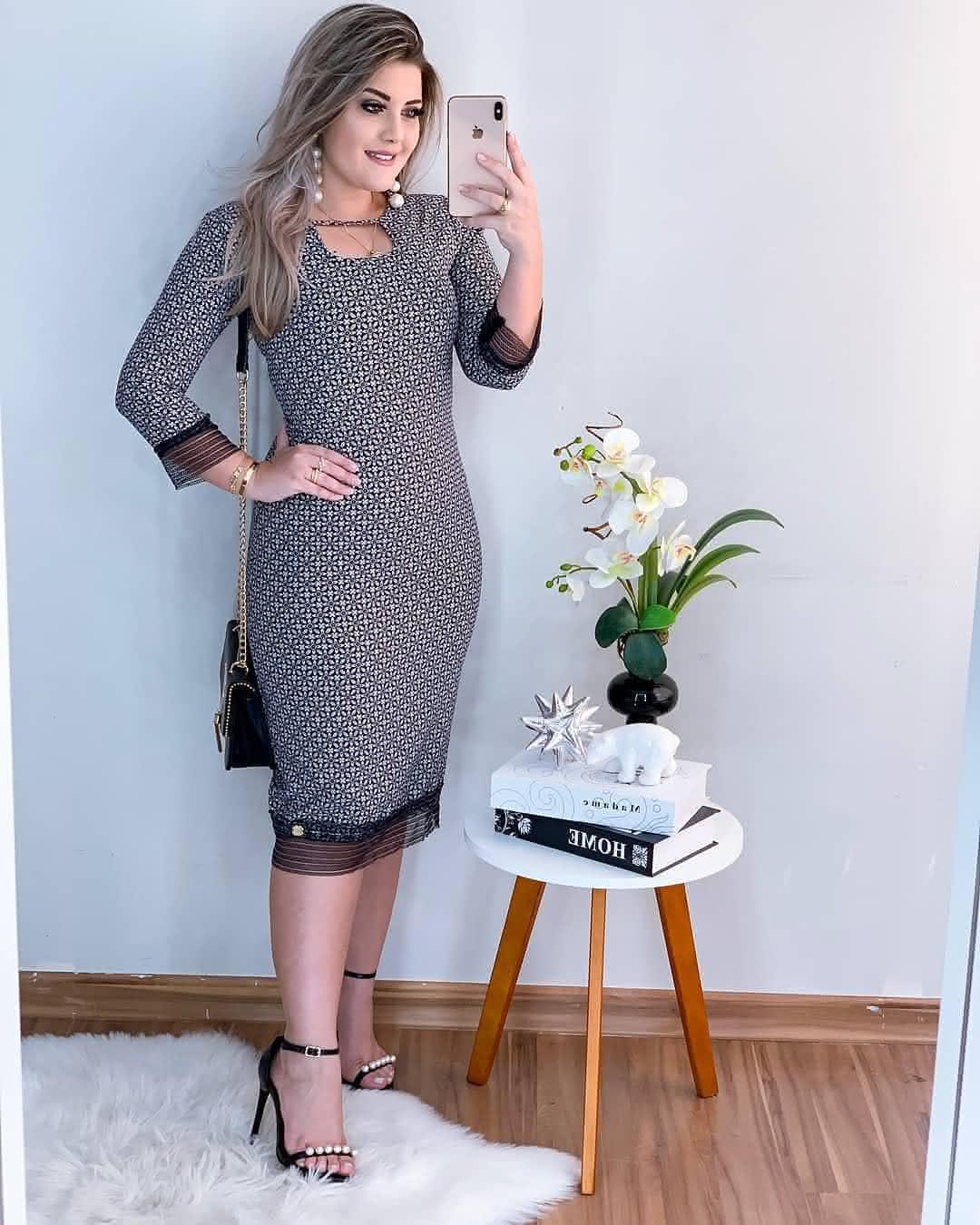 Vestidos-Tubinho-chique