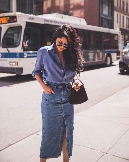 Modelos de saias lojas em jeans 2020