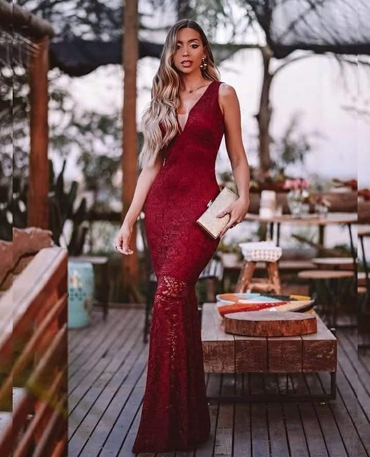 Vestido longo para usar em festa