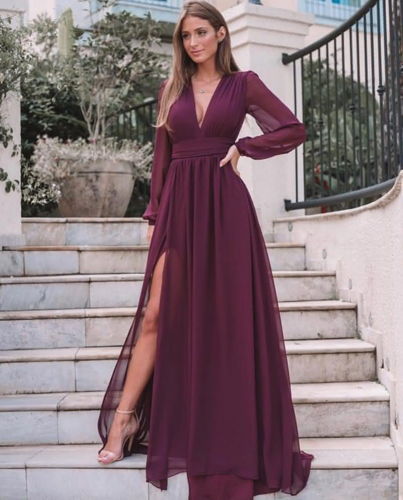 Vestido elegante longo
