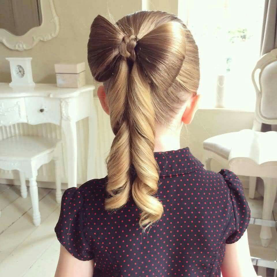Penteado Infantil Laço de Cabelo