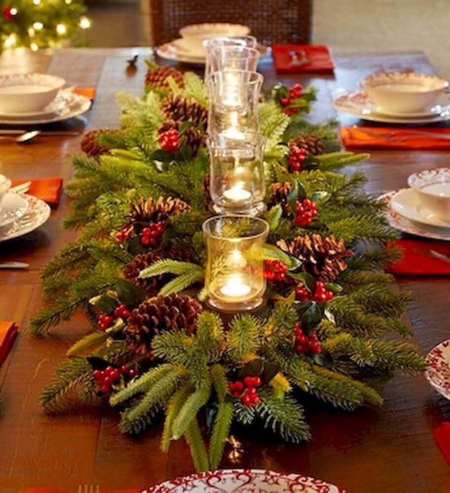 decoração de mesa para natal
