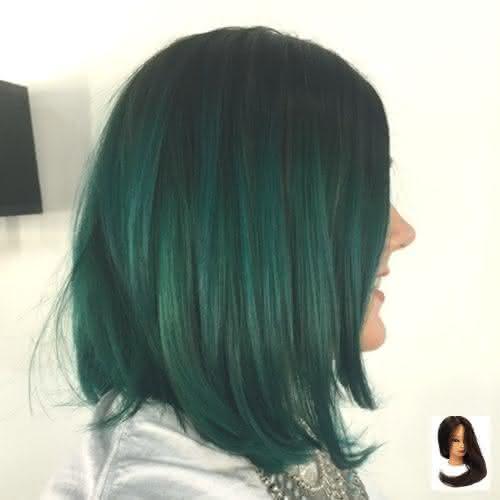 Cabelos coloridos 2021 na cor verde