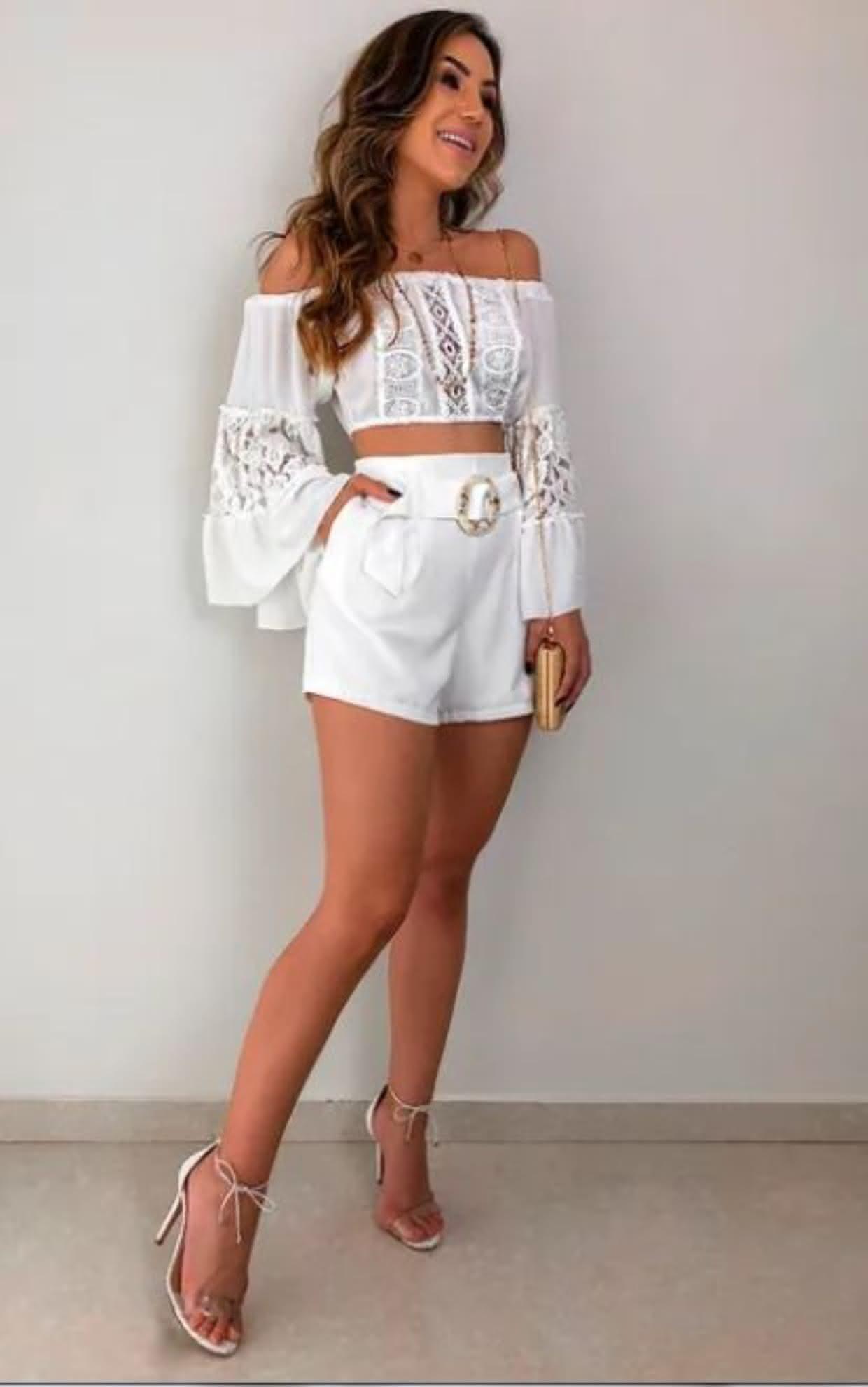 looks com shorts para ano novo